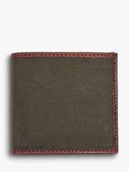 Barbour Dry Wax Cotton Wallet Green