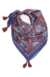 Rebecca Minkoff Persian Rose Square Silk Scarf Red