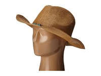 San Diego Hat Company Pbc2442 Cowboy Hat With Cord Tie And Turquoise Trim Tobacco Caps Brown