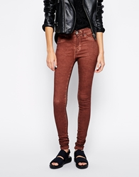 Dr. Denim Dr Denim Plenty High Waist Super Skinny Jeans Brown