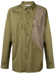White Mountaineering Woven Contrasted Shirt Green