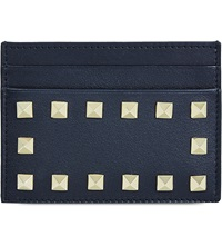 Valentino Studded Card Holder Black