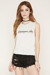 Forever 21 Way Out West Graphic Muscle Tee