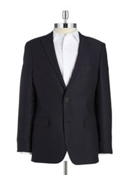 Black Brown Henry Fit Wool Blazer Navy
