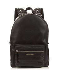 Alexander Mcqueen Studded Straps Leather Backpack Black