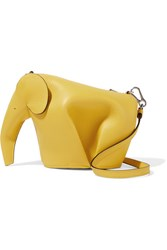 Loewe Elephant Leather Shoulder Bag Yellow