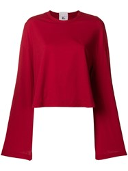Lost And Found Rooms Wide Sleeve T Shirt Red