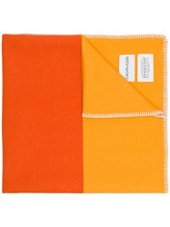 Calvin Klein 205W39nyc Embroidered Edges Scarf Yellow And Orange