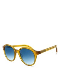 Elizabeth And James Madison Round Wayfarer Sunglasses 52Mm Compare At 155 Milky Yellow