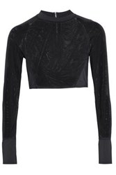 Tart Collections Paneled Mesh Rash Guard Black