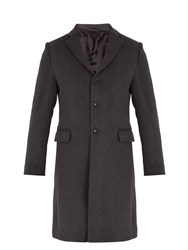 Acne Studios Gavin Single Breasted Wool Blend Coat Grey