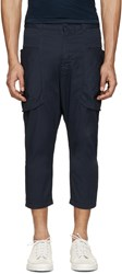 Alexandre Plokhov Navy Scoop Pocket Trousers