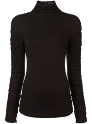 Josie Natori Stretch Knit Sweater Black