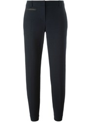 Brunello Cucinelli Cropped Tailored Trousers Blue
