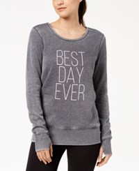 Ideology Graphic Strappy Back Sweatshirt Deep Charcoal