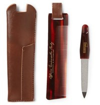 Buly 1803 Horn Effect Acetate Comb And Nail File Travel Kit Tortoiseshell