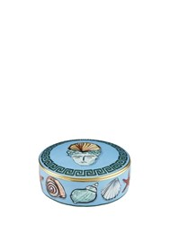 Richard Ginori 1735 13Cm Nettuno Round Porcelain Box Blue