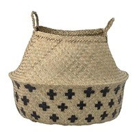 Bloomingville Seagrass Basket Natural Black