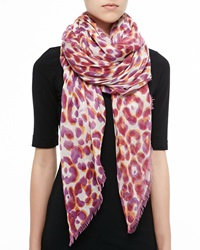 Jimmy Choo Animal Print Lightweight Shawl