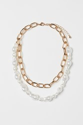 Handm H M Double Strand Necklace Gold