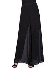 Alex Evenings Wide Leg Overlay Pants Black