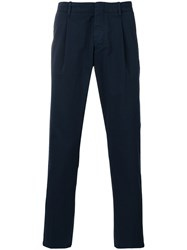 Fay Classic Trousers Men Cotton Spandex Elastane 52 Blue