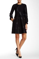 Orla Kiely Patterned Long Sleeve Dress Black