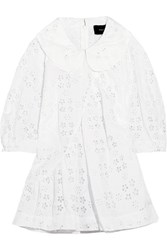 Simone Rocha Broderie Anglaise Cotton Blend Blouse White