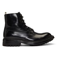 Officine Creative Black Exeter 4 Boots
