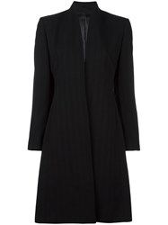 Jean Paul Gaultier Vintage Long Pinstriped Jacket Black