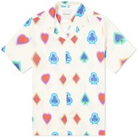 Nasaseasons Wild Card Print Vacation Shirt White
