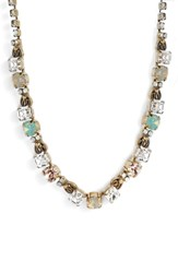 Sorrelli Forsythia Crystal Necklace Clear Gray