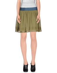 Silvian Heach Mini Skirts Green