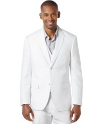 Perry Ellis Big And Tall Linen Blend Blazer Bright White