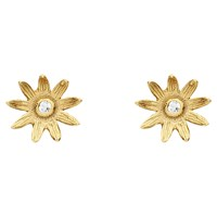 Estella Bartlett Sterling Silver Vintage Mini Flower Stud Earrings Gold