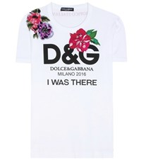 Dolce And Gabbana Embellished Cotton T Shirt Multicoloured