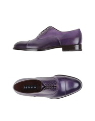 Fratelli Rossetti Lace Up Shoes Dark Purple