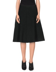 Acne Studios Knee Length Skirts Black