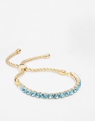 Love Rocks Blue Crystal Friendship Bracelet