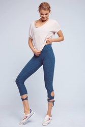 Anthropologie Wrapped Up Leggings Blue