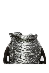 Cynthia Vincent Desiree Leather Tassel Bucket Bag Black