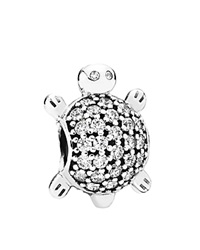 Pandora Design Pandora Charm Sterling Silver And Cubic Zirconia Sea Turtle Moments Collection