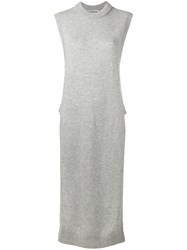 Alexander Wang T By Long Sleeveless Top Grey
