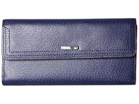 Lodis Stephanie Rfid Under Lock Key Checkbook Clutch Midnight Checkbook Wallet Navy