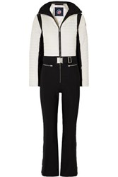 Fusalp Crouze Two Tone Quilted Ski Suit White