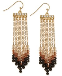 Inc International Concepts Gold Tone Beaded Fringe Earrings Only At Macy's