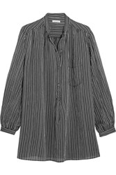Etoile Isabel Marant Jana Striped Cotton Shirt Black