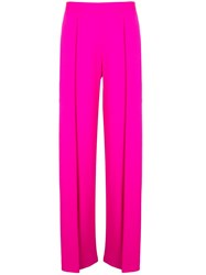 Maison Rabih Kayrouz Pleated Detail Flared Trousers Pink