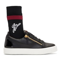 Giuseppe Zanotti Black May London Sock High Top Sneakers