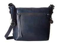 The Sak Sierra Small Bucket Ink Satchel Handbags Navy